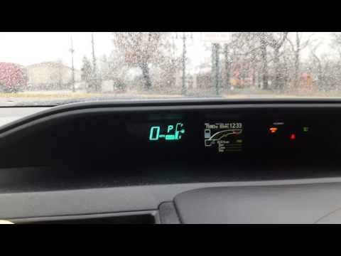 Toyota Prius c - switch MPH to Km/h
