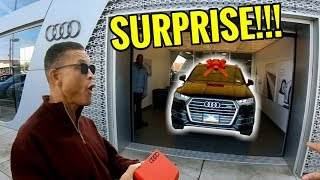 SURPRISING MY DAD WITH HIS DREAM CAR an AUDI Q7!