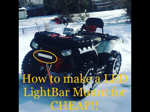 How to mount led light bar to an ATV and not drill through plastics. 2014 Polaris 850xp limited.