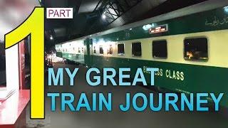 Part 1: My journey on Greenline Express Train from Karachi to Rawalpindi - 4K video