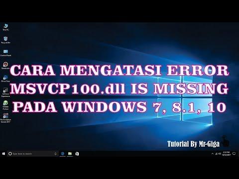 Cara Mengatasi Error msvcp100.dll is Missing Fix 100% [HD]