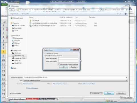 Excel 2010 - Salvar com senha