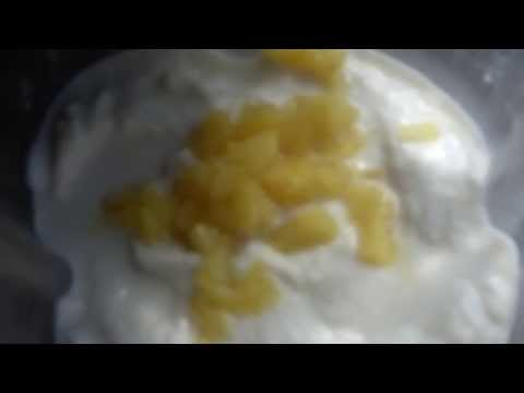 Ice Cream Made in a Blender 2 minutes Delicious & Healthy Coconut Pineapple Banana