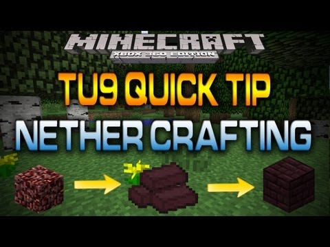 Minecraft (Xbox 360): NEW NETHER BRICKS (Quick Tip) [TU9]