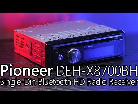 Pioneer DEH-X8700BH Single DIN Bluetooth & HD Radio Car Stereo
