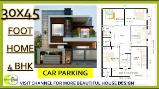30x45 4bhk House Plan With Parking Designed By Sam E Studio