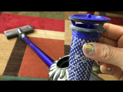 How to fix Dyson DC59 vacuum cleaner loses suction problem# how I clean the filter