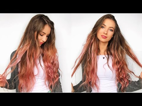 DIY PINK OMBRE HAIR AT HOME | With L'Oreal Colorista