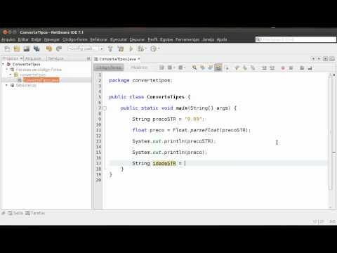 Convertendo String em float, double e int - Conversão de tipos em Java