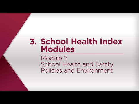 Module 1: School Health and Safety Policies and Environment