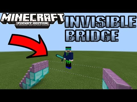 How To Build An Invisible Bridge In MINECRAFT PE 1.2.15+