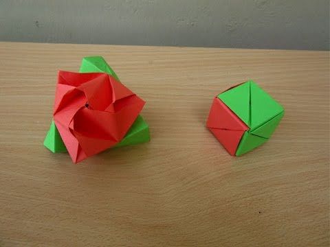How to make a Paper Magic Rose Cube - Easy Tutorials