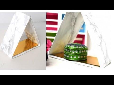{DIY} Triangle Shelves  | Amazon Cardboard Box
