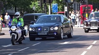 Police escorting Royal Motorcade in London