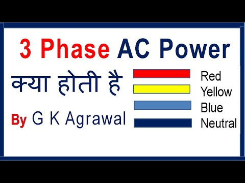 In Hindi 3 phase AC power supply & 1 phase AC supply