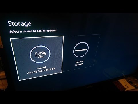 How to add an external hard drive for the Xbox one