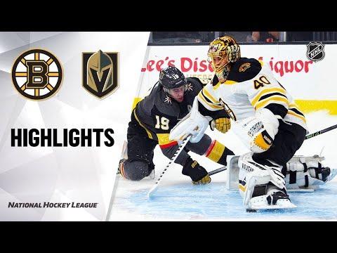 Bruins Golden Knights 10819 Highlights