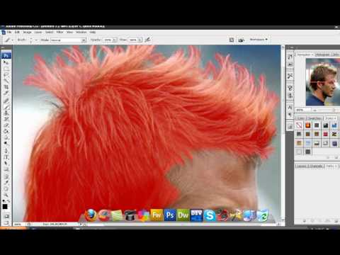 Photoshop Tutorial; How to change hair color in Photoshop CS3 and CS4![HD]