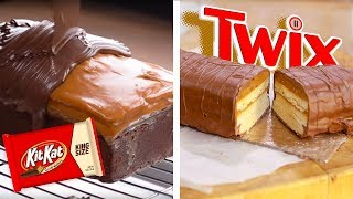 Download DIY Giant Twix Candy Bar & KitKat Chocolate Bar Bites!!   Dessert Recipes and Food Hacks by So Yummy Video