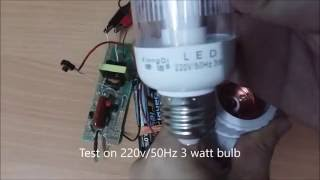 Easy Simple Step Up Voltage 3 volt DC (AA batteries) to 500 volt AC booster