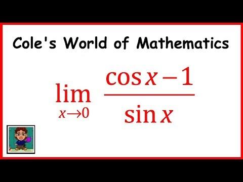 Limit of (cos x - 1)/sin x ❖ Calculus 1 ❖ Trig Limits