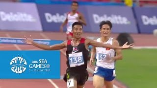 Athletics Mens 3000m Steeplechase Final Day 7 28th SEA Games Singapore 2015