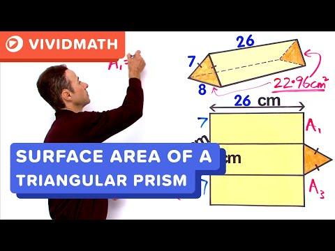 Surface Area of a Triangular Prism PT2  - VividMaths.com
