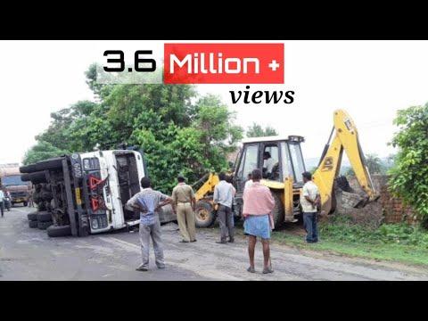 Tata Hyva 2518 Accident Rescue Operation by  JCB Machine ( karunesh kaushal )