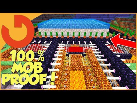 SAFEST HOUSE EVER MADE IN MINECRAFT! (100% Mob Proof)
