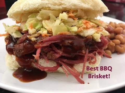 Delicious BBQ Brisket in Crockpot! BEST Barbeque brisket sliders! Easy and Homemade! YUM!