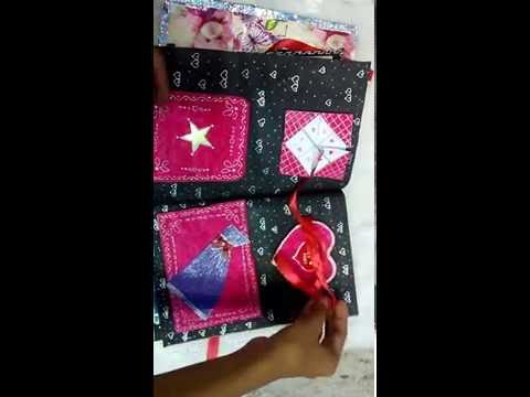 Handmade ScrapBook Album with Photos   DIY Memory Book with Pictures