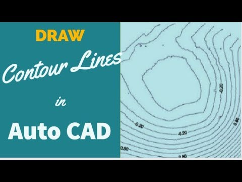 SW-DTM: How To Draw Contour Lines in AutoCAD Part_1