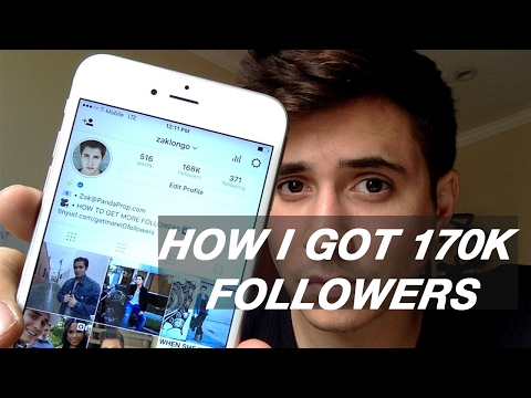 HOW TO GET MORE INSTAGRAM FOLLOWERS 2018 || @ZAKLONGO
