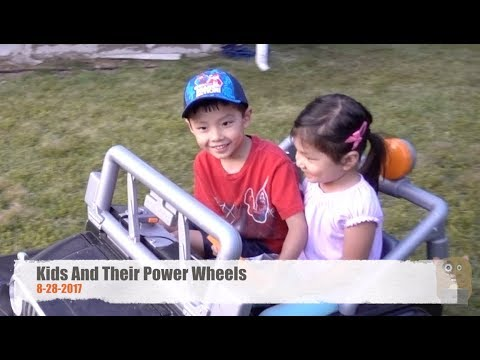 Kids And Their Power Wheels