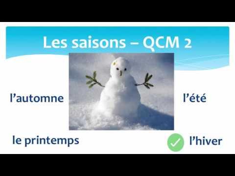 The seasons in French MCQ2 - Les saisons en Français QCM2