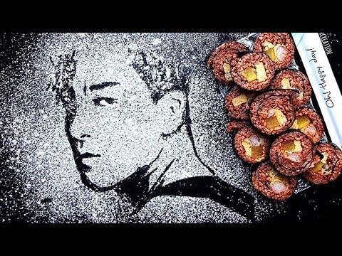 BIG BANG Food Art Stencil 빅뱅
