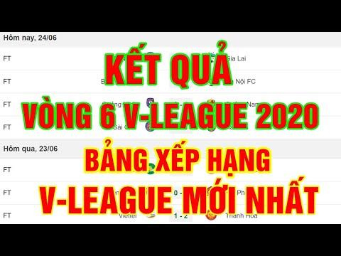 Kết quả vòng 6 V-League 2020 | Bảng xếp hạng V-League 2020 mới nhất | Thuật Thể Thao