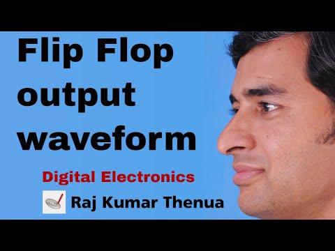 Flip Flop output waveform | Hindi / Urdu | Digital Electronics by Raj Kumar Thenua