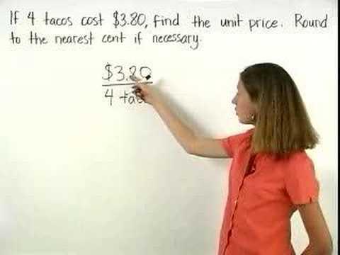 Unit Price - MathHelp.com - Pre Algebra Help