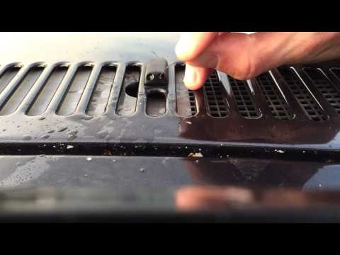 How to clean car windscreen washer nozzle jets