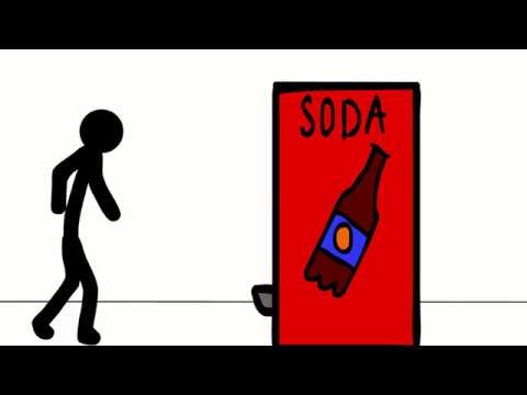 Vending Machine Rage - Stick Figure Animation - Adobe Flash/Animate CC