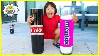 Easy DIY Science Experiments Coca Cola and Mentos! Ryan's World experiment and have fun with many fun science experiments you can do at one wit kids!