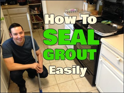 How To Seal Grout Without Getting On Your Hands & Knees!