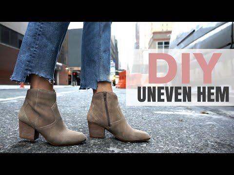 HOW TO: DIY DENIM / Uneven Hem