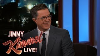 Stephen Colbert Liked Jimmy Kimmel's Sean Spicer Interview