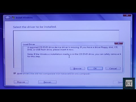 Windows 7 Fixes: A Required CD-DVD Driver is Missing (USB Windows 7 Installation Error) (2018)
