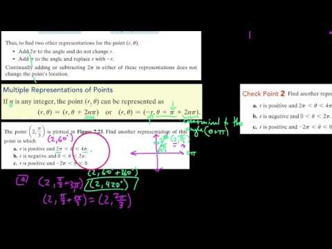 Alg3 , 7.3.2 , Multiple representations of polar coordinate points