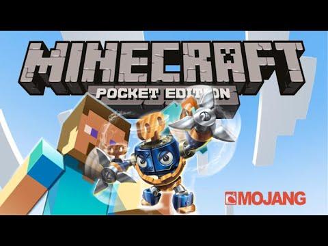 Wind Up Pixel Art Build Livestream in Minecraft Pocket Edition - Skylanders