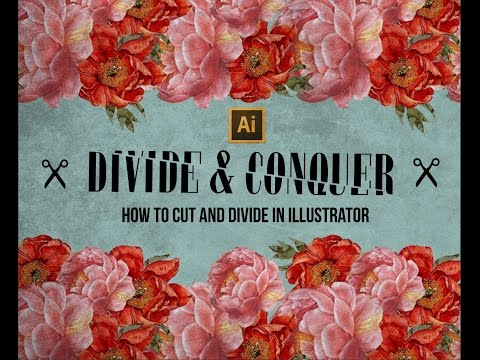 How to Cut and Divide Shapes and Text in Adobe Illustrator
