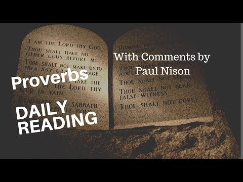 Proverb 5 Daily Bible Reading With Paul Nison
